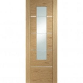 Internal Pre-Finished Oak Portici Door with Clear Glass