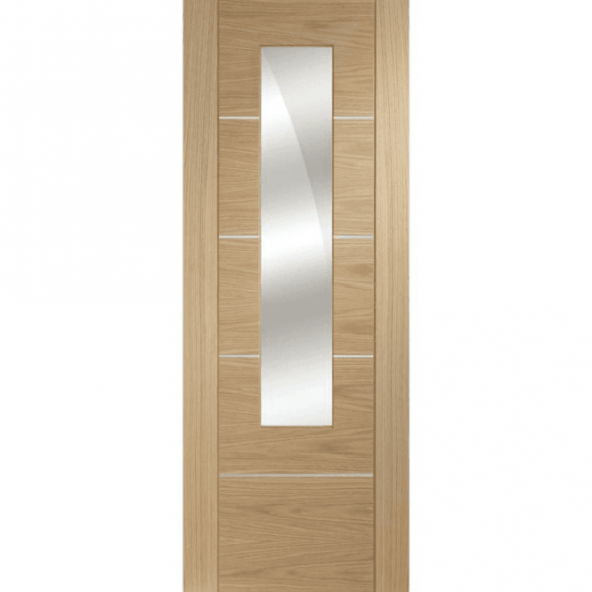 XL Joinery Internal Pre-Finished Oak Portici Door with Mirror Panel