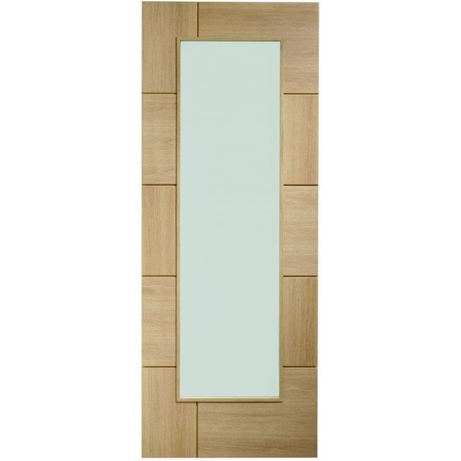 XL Joinery Internal Pre-Finished Oak Ravenna Door with Clear Glass