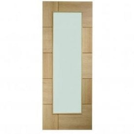 Internal Pre-Finished Oak Ravenna Door with Clear Glass