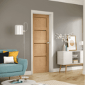 XL Joinery Internal Pre-Finished Oak Shaker 4 Panelled Door