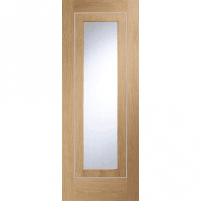 XL Joinery Internal Pre-Finished Oak Varese Door With Clear Glass