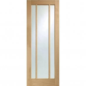 Internal Pre-Finished Oak Worcester 3 Panelled Door with Clear Glass