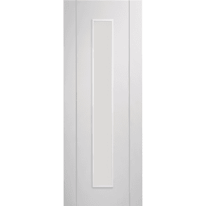 Internal Pre-Finished White Forli Door With Clear Glass