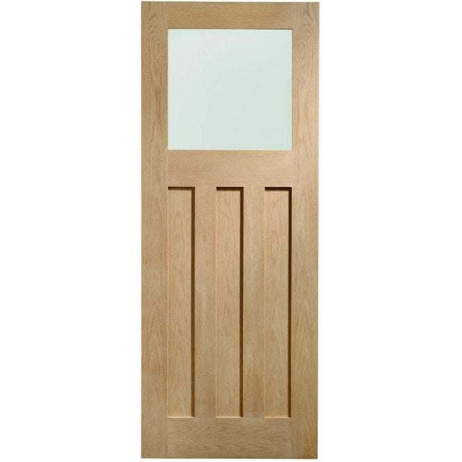XL Joinery Internal Un-Finished Oak DX Door with Obscure Glass