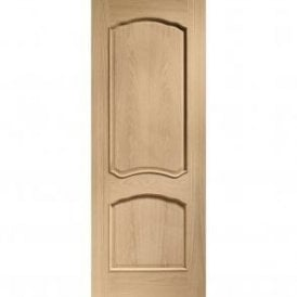 Internal Un-Finished Oak Louis Fire Door with Raised Mouldings