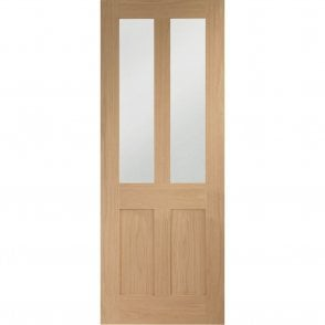 Internal Un-Finished Oak Malton Shaker Door with Clear Glass