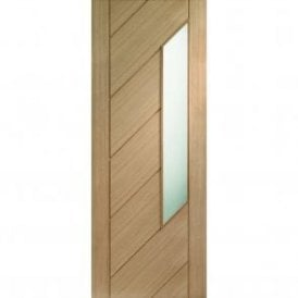 Internal Un-Finished Oak Monza Door with Obscure Glass