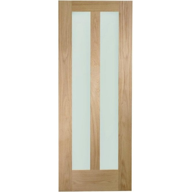 XL Joinery Internal Un-Finished Oak Novara Door with Clear Glass