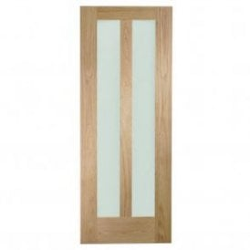 Internal Un-Finished Oak Novara Door with Clear Glass