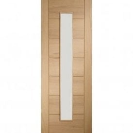 Internal Un-Finished Oak Palermo 1 Light Door with Clear Glass