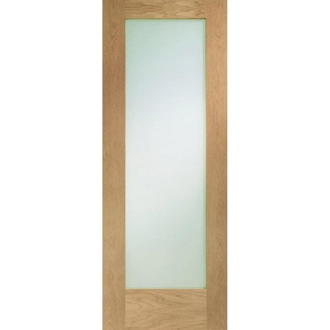 XL Joinery Internal Un-Finished Oak Pattern 10 Fire Door with Clear Glass