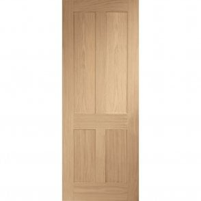 Internal Un-Finished Oak Victorian Shaker Fire Door