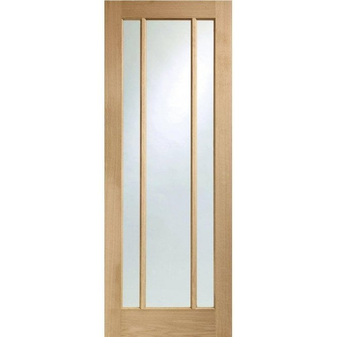 XL Joinery Internal Un-Finished Oak Worcester Fire Door with Clear Glass