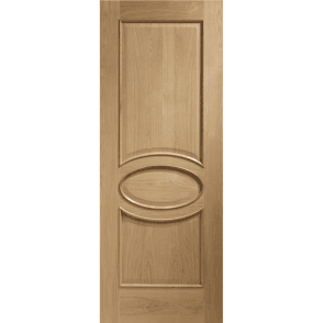 Internal Unfinished Oak Calabria Door with Raised Mouldings