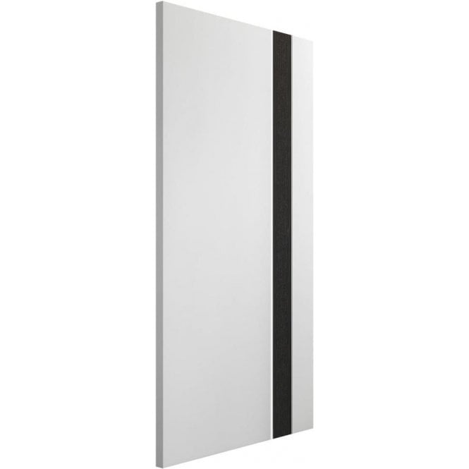 XL Joinery Internal White & Dark Grey Pre-Finished Praiano Fire Door