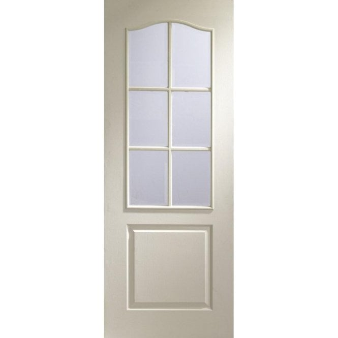XL Joinery Internal White Moulded Classique 6 Light with Bevelled Glass Door