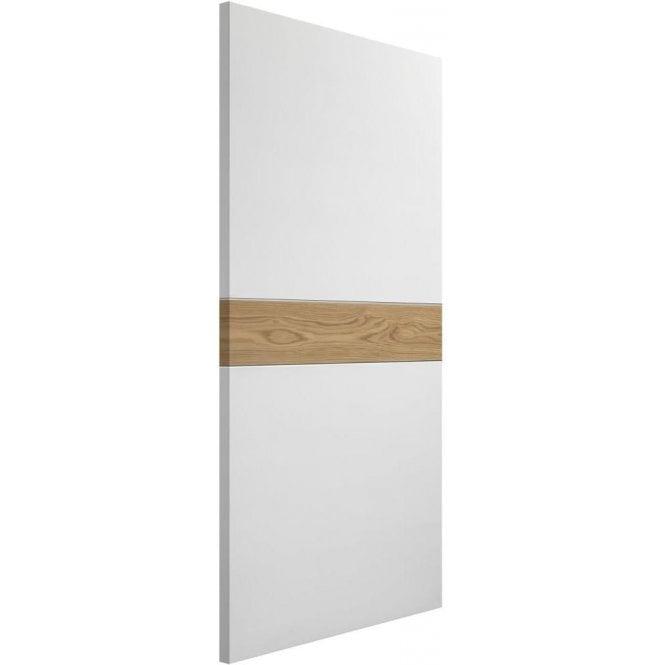 XL Joinery Internal White & Oak Pre-Finished Asti Fire Door