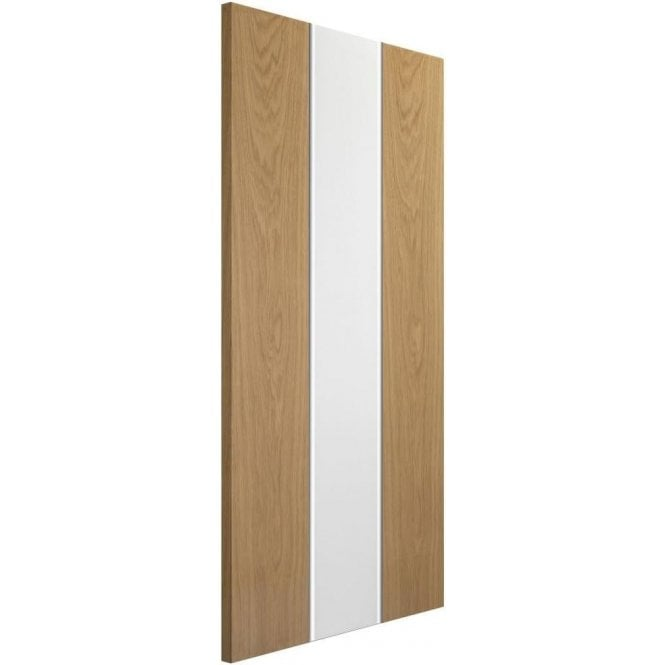 XL Joinery Internal White & Oak Pre-Finished Pescara Fire Door