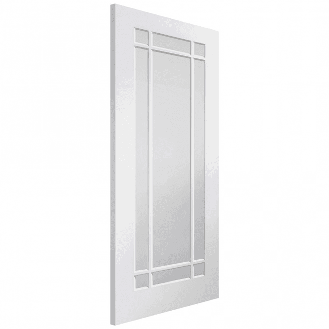 XL Joinery Internal White Primed Cheshire Door with Clear Glass