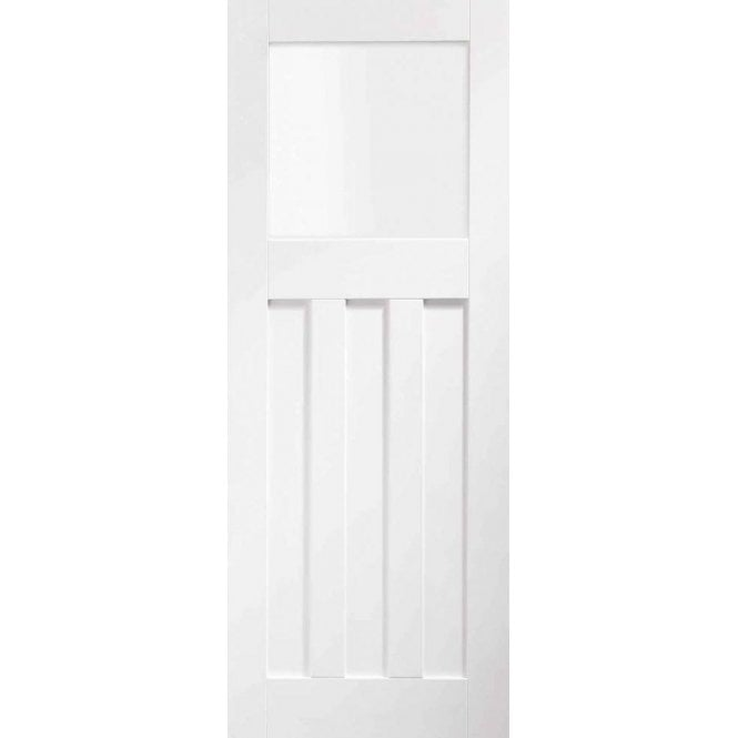 XL Joinery Internal White Primed DX Door with Obscure Glass