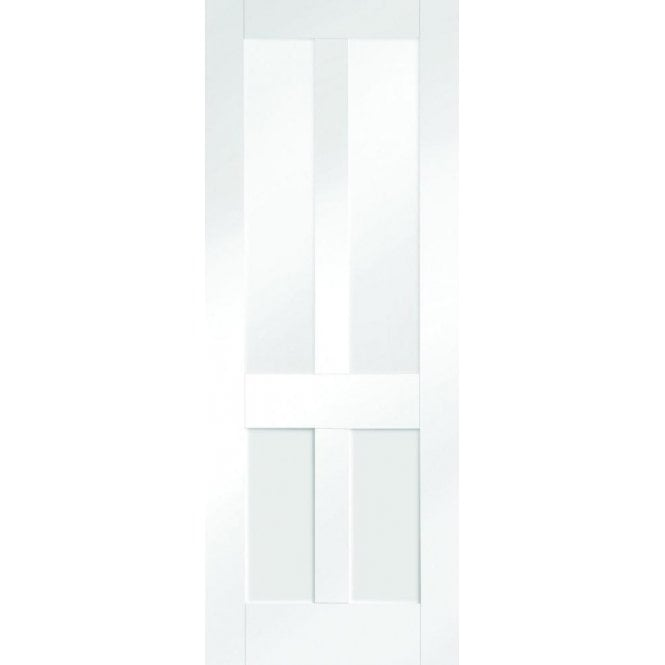XL Joinery Internal White Primed Malton Shaker Door with Clear Glass