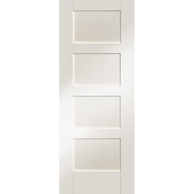 XL Joinery Internal White Primed Shaker 4 Panel Door