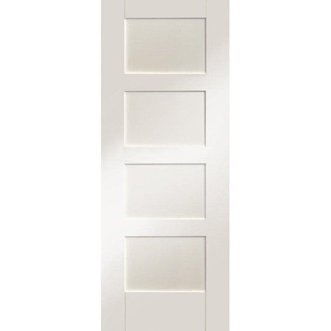 XL Joinery Internal White Primed Shaker 4 Panel Door
