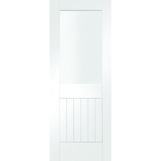 XL Joinery Internal White Primed Suffolk 1 Light Clear Glass Door