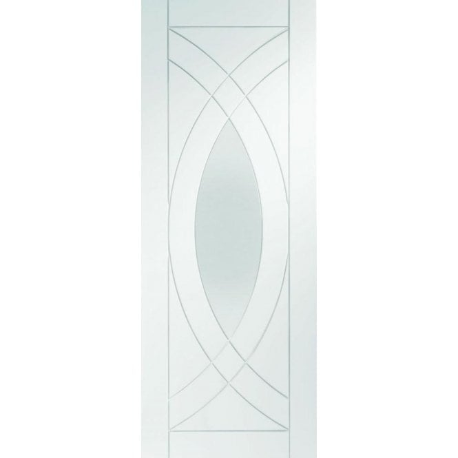 XL Joinery Internal White Primed Treviso Door with Clear Glass