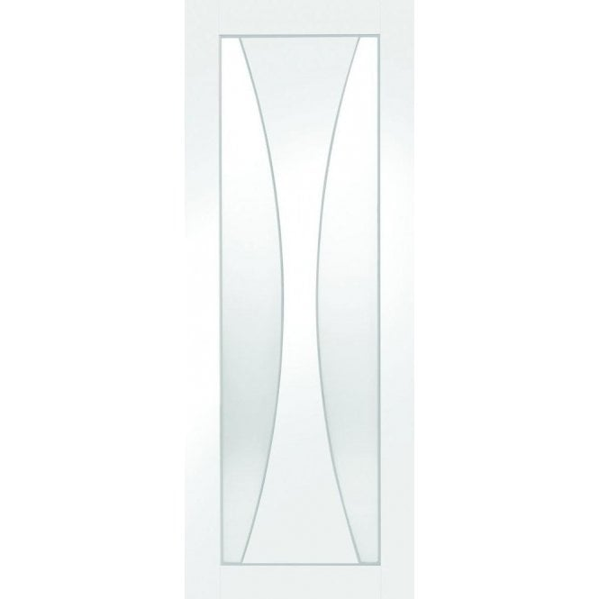 XL Joinery Internal White Primed Verona Door with Clear Glass