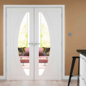XL Joinery Internal White Salerno Pair Door with Clear Glass