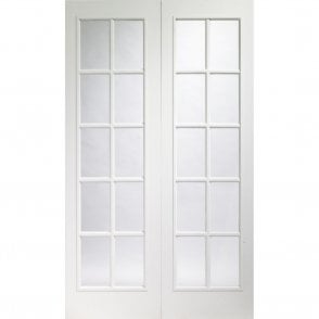 Portbello Internal White Moulded Pair Door with Clear Glass