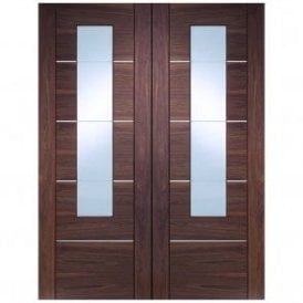 Portici Pair Door with Clear Glass