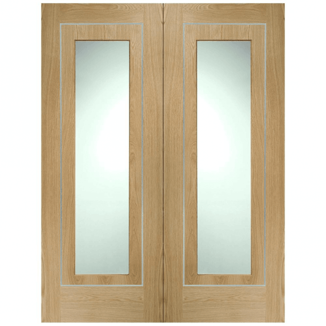XL Joinery Varese Pair Door with Clear Glass